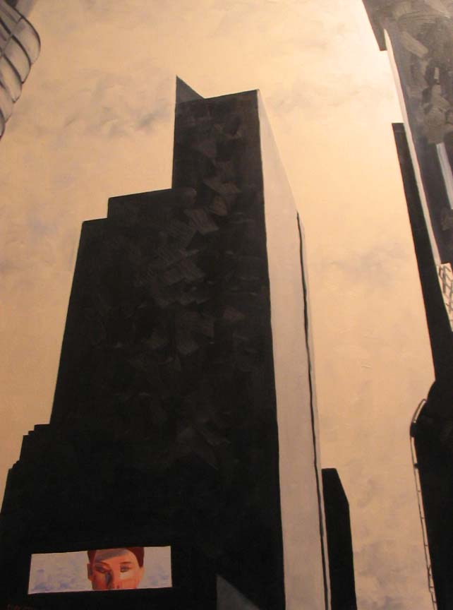 2004-40x30-Oil on Canvas-Times Square Looking South